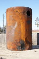 Big rusted barrel by AnnFrost-stock