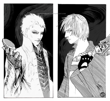 : Dante / Vergil : by BastardPrince