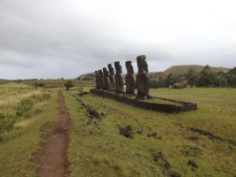 Seven Scouts, Rapa Nui / Easter Island by JohnRobertPosey