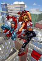Spidey and Arana by Nema... by spider-wal