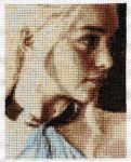 Daenerys Targaryen -- Cross Stitch by lailarshid