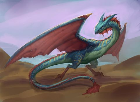 Daily Seaside Dragon by Sam-Peterson