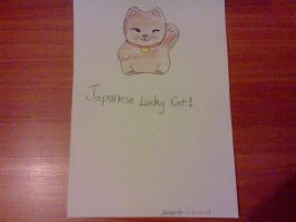 Japanese Lucky cat by jessyho862010