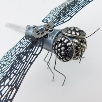 Steampunk Dragonfly Sculpture by deathbysunset