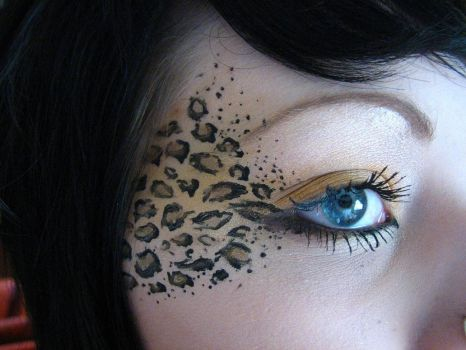 Leopard Print Makeup by TELEFONA