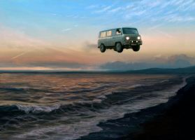 Flying UAZ by Atenebris