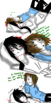 Jeff The Killer and Liu-The feeling of being loved by MikaelBratLoni
