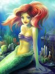Ariel in the wind of water by starca
