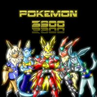 Eevee Evolutions. Pokemon 3900 by Jeticus