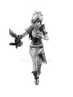 Riven monochrome by Verburner