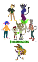 $10 Commissions! by TheStripedKit