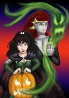 Collab - Kolle and Eryn Halloween 2012 by dragondoodle
