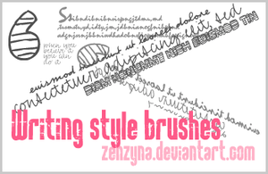 Writing style brushes by Zenzyna