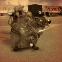 SteamPunk Mouse by the-human-fly