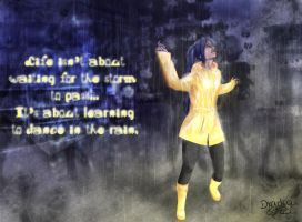 Sachi - Dancing in the Rain by Dradra-Trici