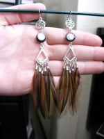 Feather Earrings - 19.99 by SPPlushies