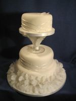 edible feather wedding cake by Dragonsanddaffodils