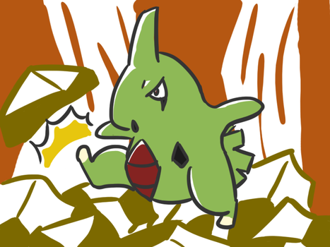 246-Larvitar by 3nigmatic-3go