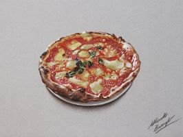 Pizza drawing by marcellobarenghi