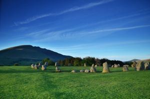 Castlerigg and Blencathra by roodpa