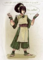 AVATAR The Last of Airbender - Le Toph by papelmarfil