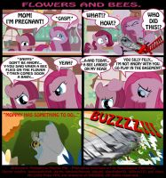 Flowers and Bees.(sweet''n''silly strip) by INVISIBLEGUY-PONYMAN