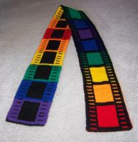 Filmtastic Rainbow Scarf by harelquin-demon