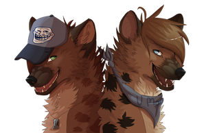 Hyena bros :D by take0it0isi