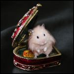 Hamster With Golden Earring by Lilyas