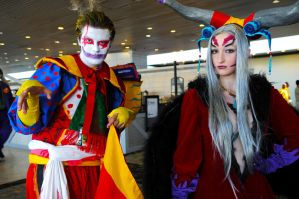 Otakon Kefka and Ultimecia by DarkGyraen