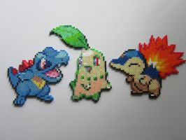 Pokemon Starters No.2 by 8-BitBeadsStudio
