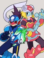 MegaMan and HarpNote by Rei-Kibou