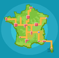 France Pokemon Region by ForestIlex