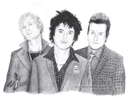 Green Day drawing 1 by Let-Yourself-Flo