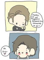 Erik and Charles-Pick up lines by StrawHatAna