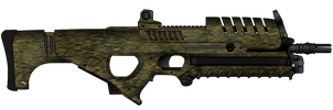 Bluefin Assault Rifle with 'Fearless' Camouflage by Alligator-Fists