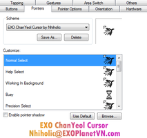 EXO ChanYeol cursor by Nhiholic