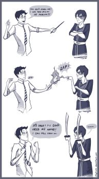 Why wizards should not rely too much on wands... by StephWSM