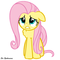 Devastated Fluttershy by SirSpikensons