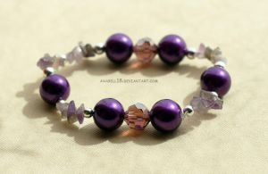 Bransoletka .violet and amethyst. by anabell18