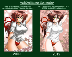 Redone and Recolor: Yui Rakkuza by jadenkaiba