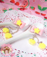 Twinkle Sugar Star Earrings by XxViolentxLolitaxX