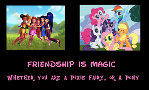 Disney Fairies-My Little Pony Motivational Poster by MetroXLR99