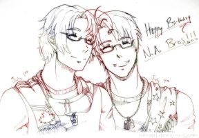 APH: Happy Birthday NA Bros by niirasri