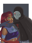 Request: Starfire and Red X by Mariyand-R