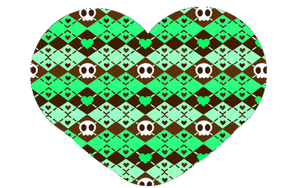 Mint Chocolate Skulls (Pattern for GIMP) by strawberrybunny4341