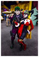 Joker and Harley Quinn - DC Universe Online by Sparrow626