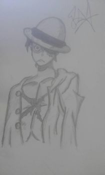 Luffy (one peace) by OneAfterAnother