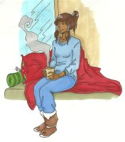 Wintery Korra by LilyScribbles