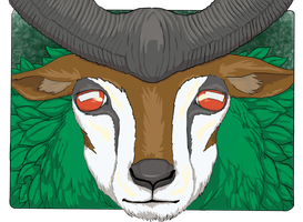 Gogoat Portrait [Collab] by LordOrenamus